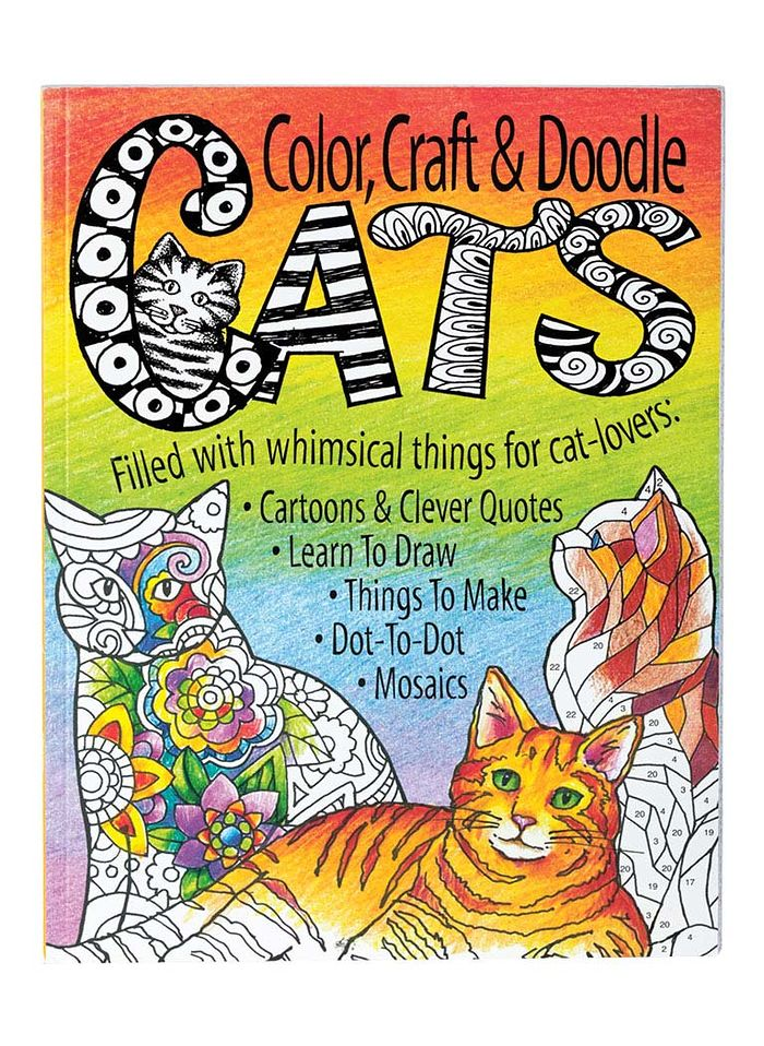 Cats, Color, Craft Doodle Book