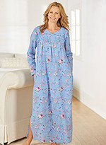 Product Review Floral Print Flannel Nightgown
