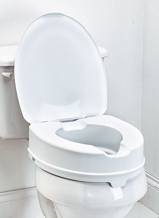 Main Toilet Seat Riser with Lid