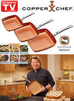 Product Review Copper Chef� 3-Piece Square Set