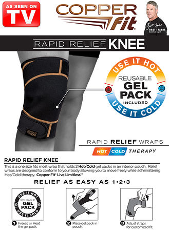 Main CopperFit™ Rapid Relief Knee Wrap