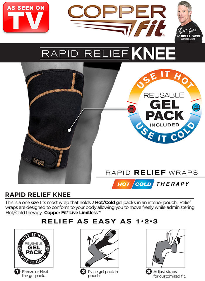 CopperFit™ Rapid Relief Knee Wrap