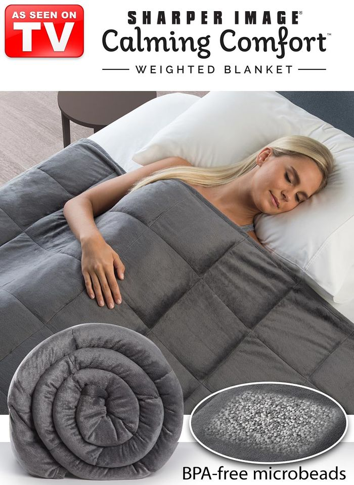 Sharper Image® Calming Comfort™ 10lb. Weighted Blanket