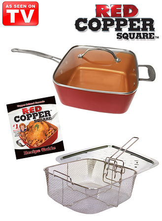 Main 5-Pc. Red Copper™ Pan Set