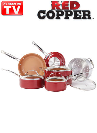Main 10-Pc. Red Copper™ Pan Set