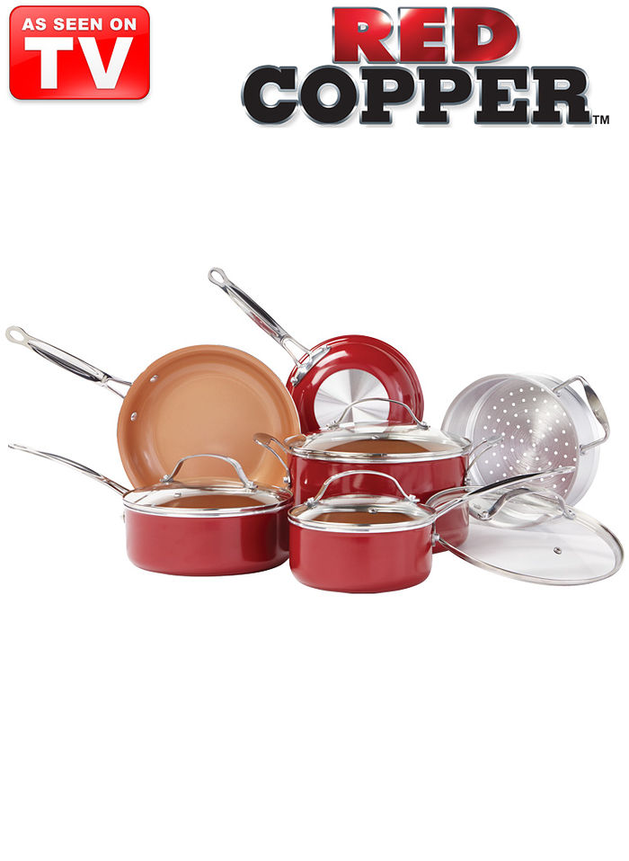 10-Pc. Red Copper™ Pan Set