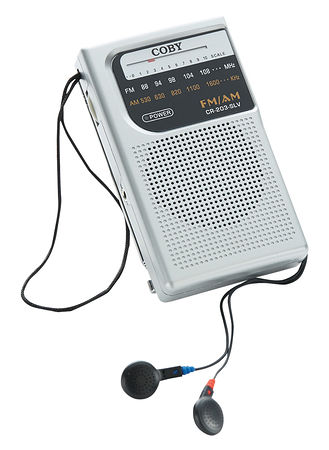 Main Coby® Pocket Size AM/FM Portable Radio