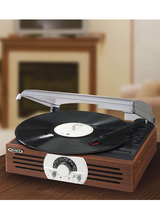 Main Jensen 3-Speed Stereo Turntable with AM/FM Stereo Radio