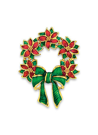Main Festive Wreath Pin