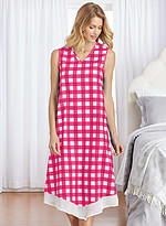 Product Review Sleeveless Gingham Nightgown