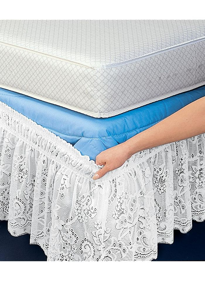 Lace Wrap-Around Bed Ruffle