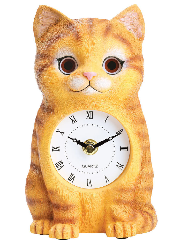 Cat Clock with Moving Eyes